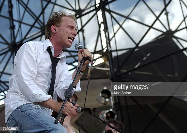 Torquil Campbell of the band Stars performs as part of the Austin City Limits Music Festival at Zilker Park on September 15, 2006 in Austin, Texas.