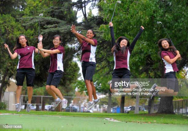 Torrance High is known for churning out LPGA players and college stars and fields a strong girls golf team this year with, from left, Anne Cheng,...