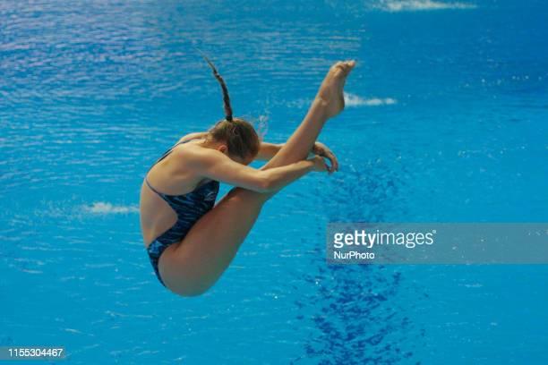 Torrance Katherine of England action during an 18th FINA World Championships Gwangju Women's 1m Springboard Tremplin 1m - hommes Preliminary...