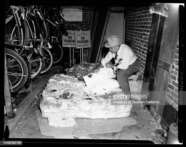 Torrance murder 13 September 1951 Chief John StrohCaption slip reads 'Photographer Hecht Date Reporter Towers Assignment Torrance murder 1/2 Chief...
