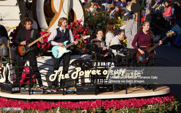 Torrance Rose Float Association's 'The Power Of Music' float wins the Tournament Volunteer Award during the 2019 Rose Parade in Pasadena on Tuesday...