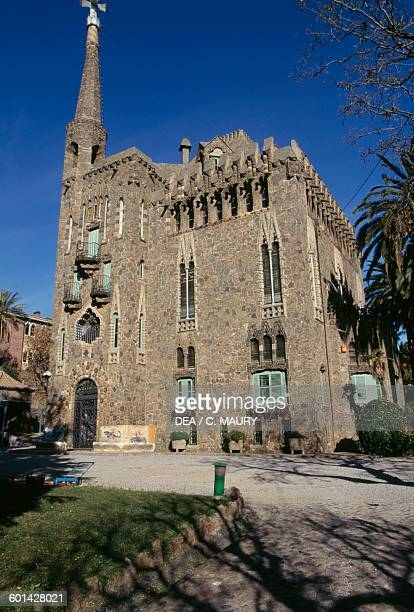 Torre Bellesguard 19001909 architect Antoni Gaudi Sarria district Barcelona Catalonia Spain 20th century