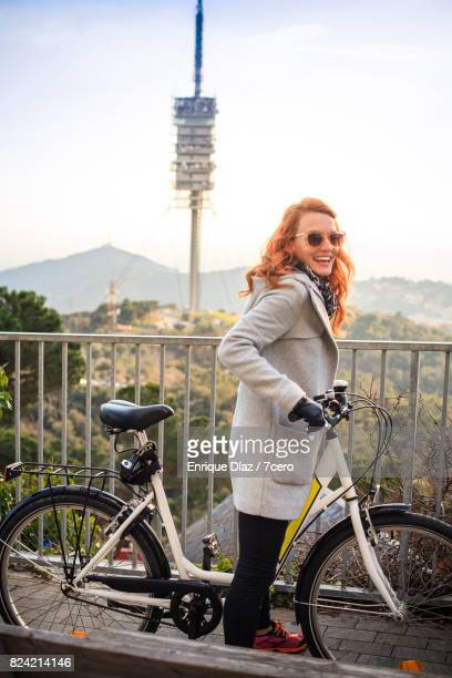 Torre Collserola from Tibidabo by bike