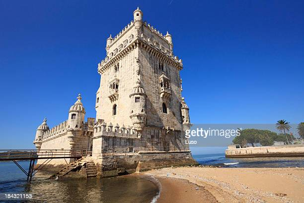 torre de belém de lisboa, -, portugal - portugal - fotografias e filmes do acervo
