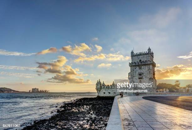 torre de belem - tower stock pictures, royalty-free photos & images