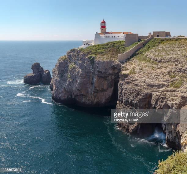 Torre de Farol do Cabo de Sao Vicente, lighthouse, Sagres, Portugal.
