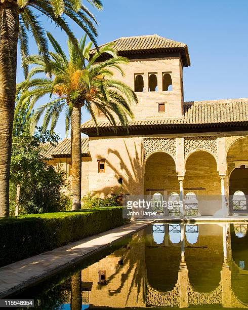 torre de las damas, alhambra palace, granada - alhambra spain stock pictures, royalty-free photos & images