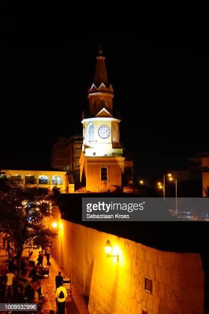 Torre de Reloj at Night, Plaza de los Coches, Cartagena, Colombia