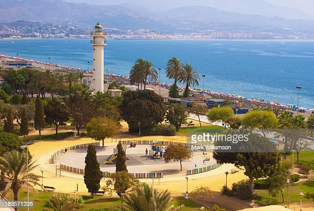 Torre del Mar seafront park.