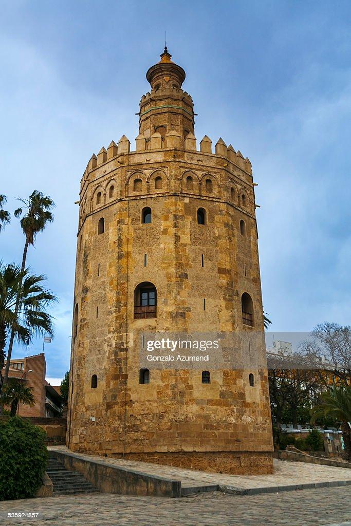 Torre del Oro tower in Seville. : Stock Photo