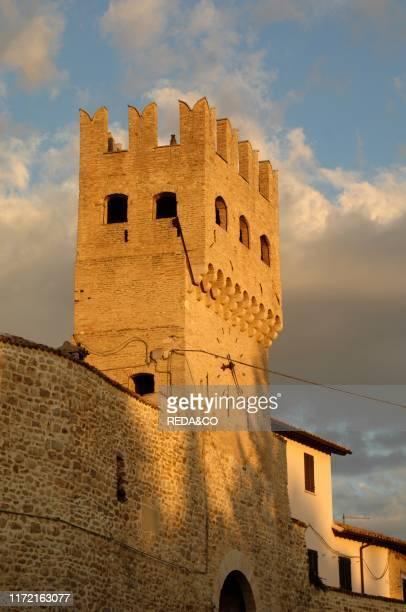 Torre del Verziere, Montefalco, Umbria, Italy, Europe.