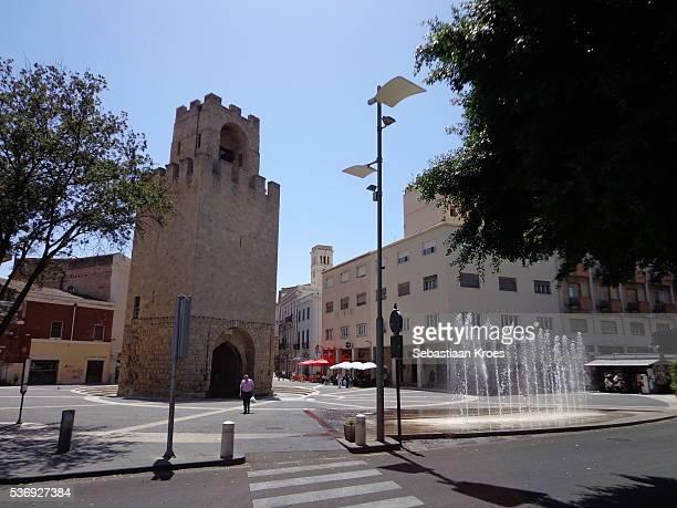 torre di san cristoforo tower, old city, oristano, sardinia, italy - oristano imagens e fotografias de stock