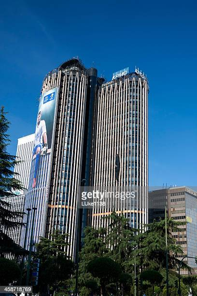 torre europa - madrid province stock photos and pictures