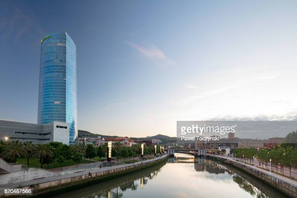 Torre Iberdrola (165m), highest skyscraper in Bilbao, Spain