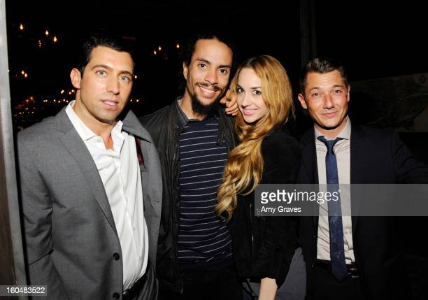 JT Torregiani Ross Naess Kimberly Ryan and Sylvain Bitton attend the Aventine Restaurant Grand Opening on January 31 2013 in Hollywood California