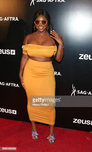 Torrei Hart attends a celebration for The July 13th Global Launch of ZEUS presented by SAGAFTRA and The Zeus Network at Lure Nightclub Hollywood on...