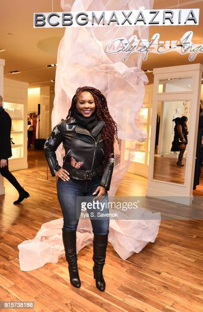 Torrei Hart attends ELLE and BCBGMAXAZRIA Celebrate New York Fashion Week on February 7 2018 in New York City