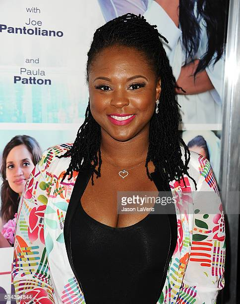 Torrei Hart attends the premiere of 'The Perfect Match' at ArcLight Hollywood on March 7 2016 in Hollywood California