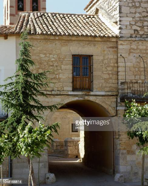 Torrelobaton province of Valladolid Castile and Leon Spain Gate of the old walls 14th century