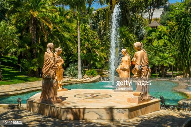 Torremolinos, Spanien, ESP, Andalusien, al-Andalus, Jardín Botánico Molino de Inca, Muehle, botanische Sehenswuerdigkeiten, Palmen, Baum, Baeme,...