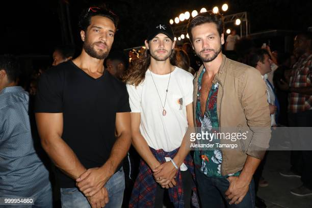 Torren Lee Mark Pighetti and Sebastian Rocha attend the 2018 Sports Illustrated Swimsuit party at PARAISO during Miami Swim Week at The W Hotel South...