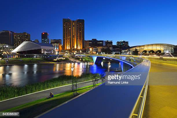 torrens lake and the adelaide festival centre at d - adelaide festival stock pictures, royalty-free photos & images