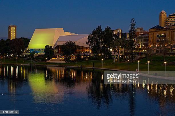 Torrens River at night Adelaide South Australia SA Australia