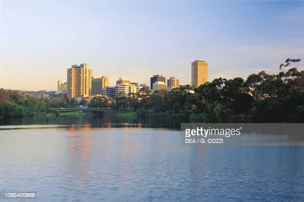 Torrens river at sunset Adelaide South Australia Australia