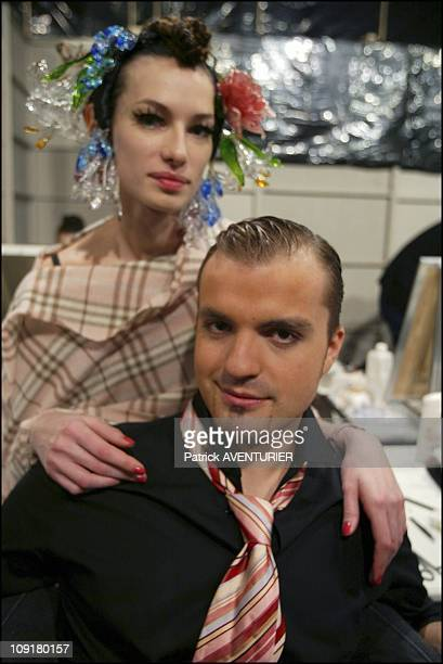 Torrente Backstage Of The Haute Couture SpringSummer 2004 Fashion Show On January 19 2004 In Paris France Julien Fournie The New Designer