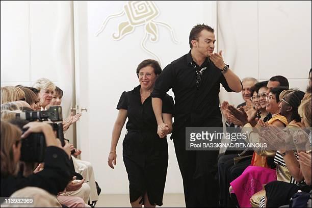 Torrente, Haute Couture Fashion show Fall Winter 2004-2005 in Paris, France On July 06, 2004-Designer Julien Fournie.