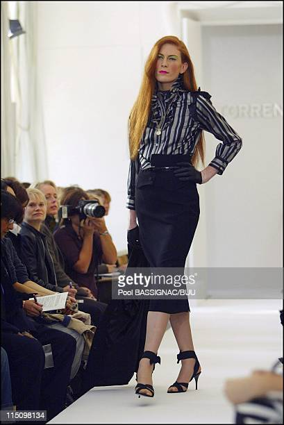 Torrente spring-summer 2004 ready to wear collection in Paris, France on October 08, 2003.
