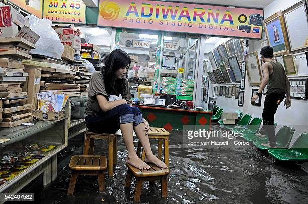 Torrential rain hits Jakarta and creates flooding in the city center of Menteng. Flooding, a regular occurance in the Indonesian capital, is the...
