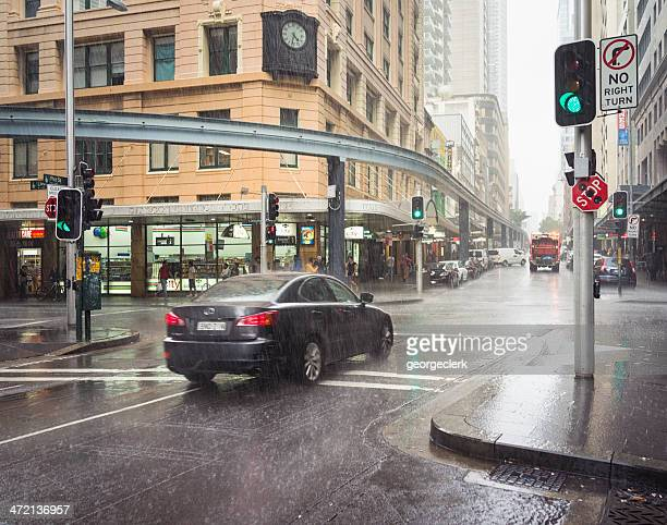 torrential rain in sydney - sydney rain stock pictures, royalty-free photos & images