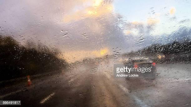 Torrential Rain on a UK Motorway