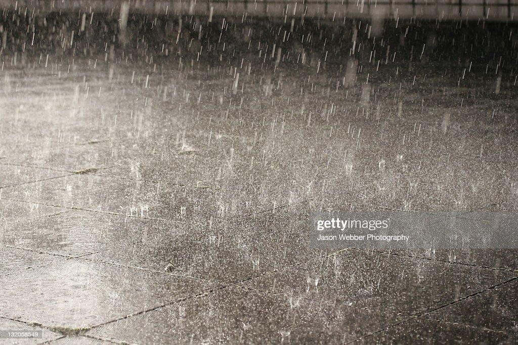Torrential rain : Stock Photo