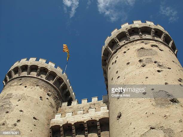 Torres de Cuart in Valencia which formed part of the medieval walls of Valencia were built between 1441 and 1460 in Late Gothic style Valencia...