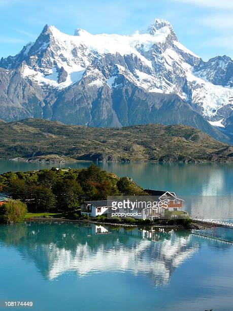 torres del paine lake pehoe - chile stock pictures, royalty-free photos & images