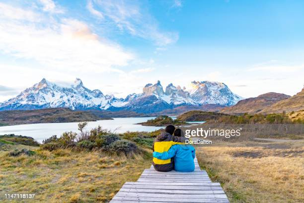 torres del paine national park, chile. (torres del paine national park) - torres del paine national park stock photos and pictures