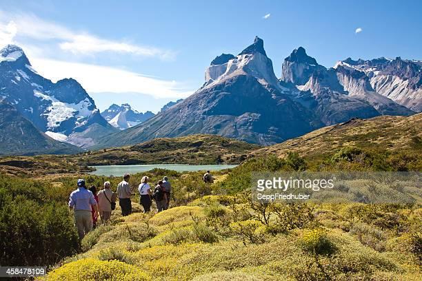torres del paine national park chile - torres del paine national park stock photos and pictures