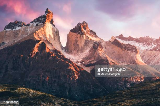 torres del paine national park, chilean patagonia - mountain stock pictures, royalty-free photos & images