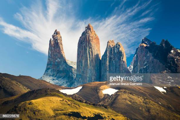 torres del paine national park - unesco stock pictures, royalty-free photos & images