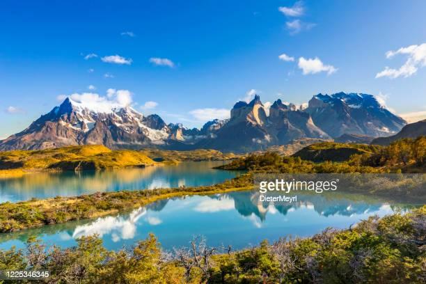 torres del paine, patagonien, chile - schöne natur stock-fotos und bilder