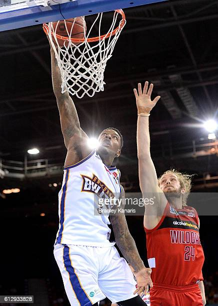 Torrey Craig of the Bullets shoots a basket during the round one NBL match between the Brisbane Bullets and the Perth Wildcats at the Brisbane...