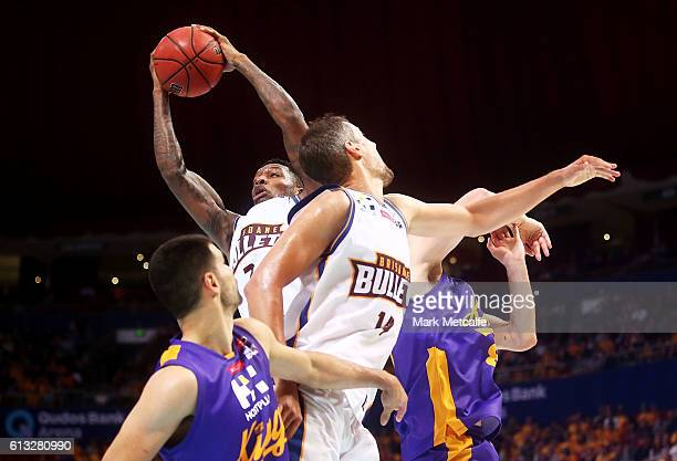 Torrey Craig of the Bullets takes a rebound during the round one NBL match between the Sydney Kings and the Brisbane Bullets at Qudos Bank Arena on...