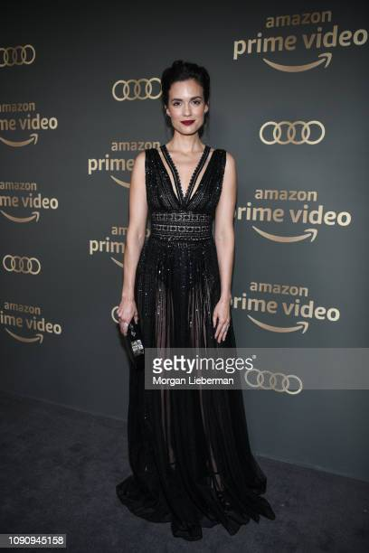 Torrey DeVitto arrives at Amazon Prime Video's Golden Globe Awards After Party at The Beverly Hilton Hotel on January 06 2019 in Beverly Hills...