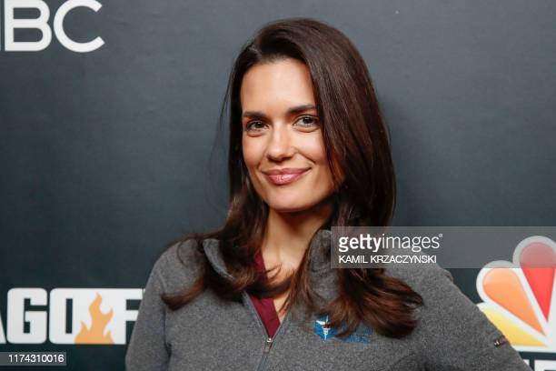 """Torrey DeVitto attends the 2019 press day for TV shows """"Chicago Fire"""", """"Chicago PD"""", and """"Chicago Med"""" on October 7, 2019 in Chicago, Illinois."""