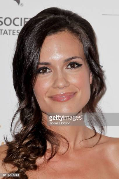 Torrey DeVitto attends the Humane Society's 60th anniversary benefit gala at the Beverly Hilton Hotel on March 29 2014 in Beverly Hills California