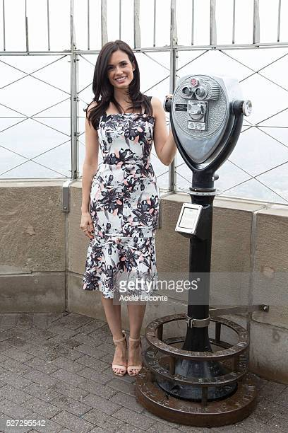 Torrey DeVitto Lights The Empire State Building Green In Honor Of Mental Health Month at The Empire State Building on May 2 2016 in New York City