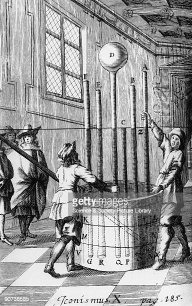 Torricelli's barometer experiment 1644 Evangelista Torricelli the Italian mathematician and physicist was the inventor of the mercury barometer The...
