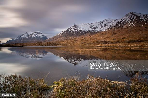 torridon reflections - wester ross stock pictures, royalty-free photos & images